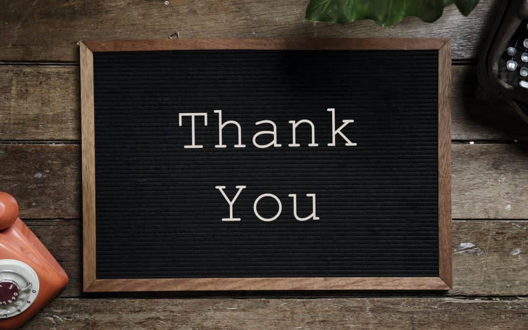 The Power of 2 Words – Thank you